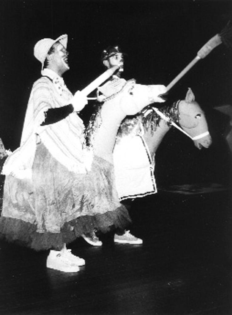 Sancho pança (Heitor Schmidt) e D. Quixote (Carlos Becker)