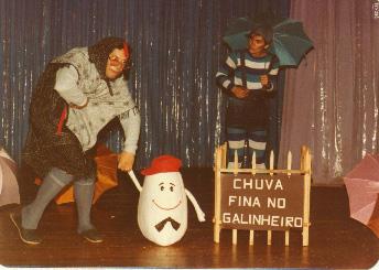 Galinha D'Angola (Heitor Schmidt) e Pingo de Chuva (Daisy da Silva)