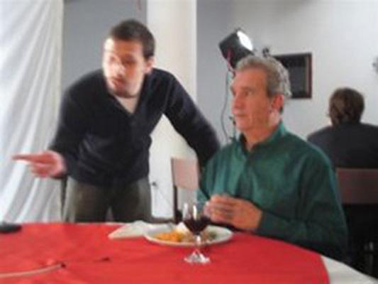 O diretor Daniel Laimer e o ator Clemente Viscaíno