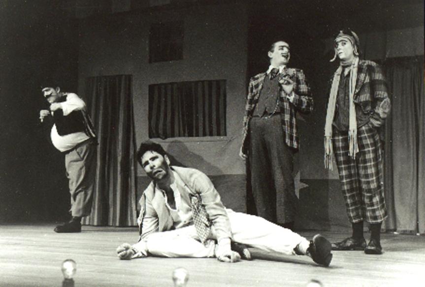 Marruá (Heitor Schmidt), Teité (Mário Ballenti), Tabarone (Adriano Basegio) e Matias Cão (Lu Adams)