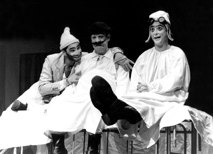 João Teité (Mário Ballenti), Mané Marruá (Heitor Schmidt) e Matias Cão (Lu Adams)