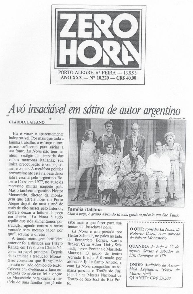 La Nonna - Zero Hora - 13.08