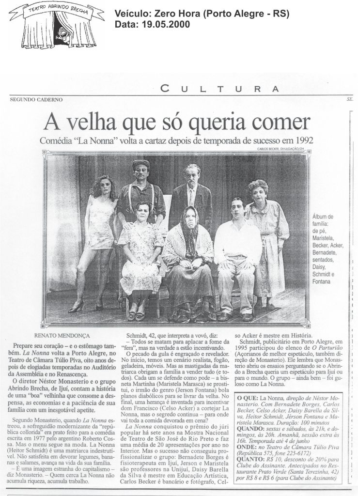 La Nonna - Zero Hora - 19.05
