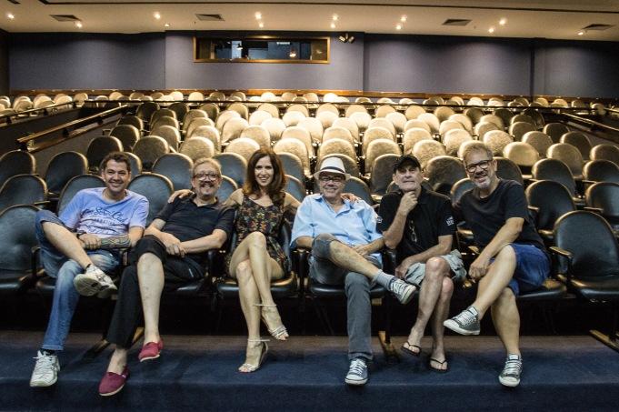 Alexandre Ricardo, Néstor Monasterio, Ingra Lyberato, Artur José Pinto e Heitor Schmidt - teatro do SESC - Porto Alegre - RS - (Foto: Luciane Pires Ferreira)