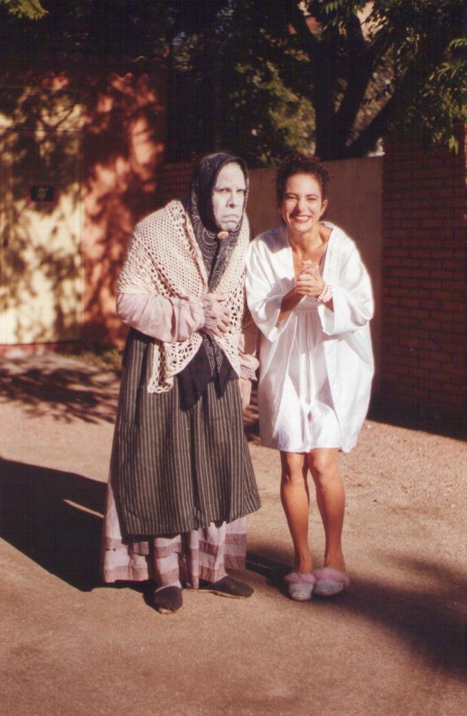Heitor Schmidt (La Nonna) e Deborah Finnocchiaro (Pois é, Vizinha). Porto Alegre - RS - 2000.