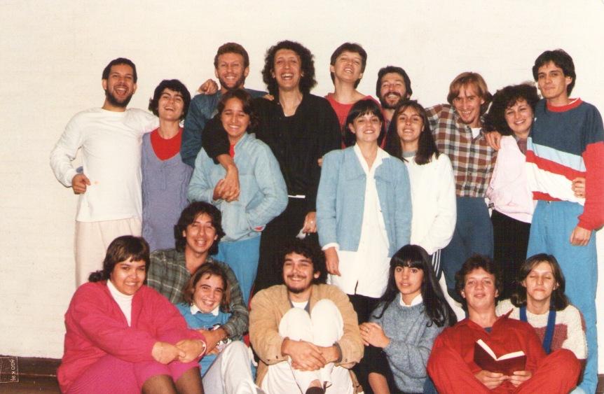 Oficina de Interpretação teatral com Néstor Monasterio. Santo Ângelo - RS - 1985