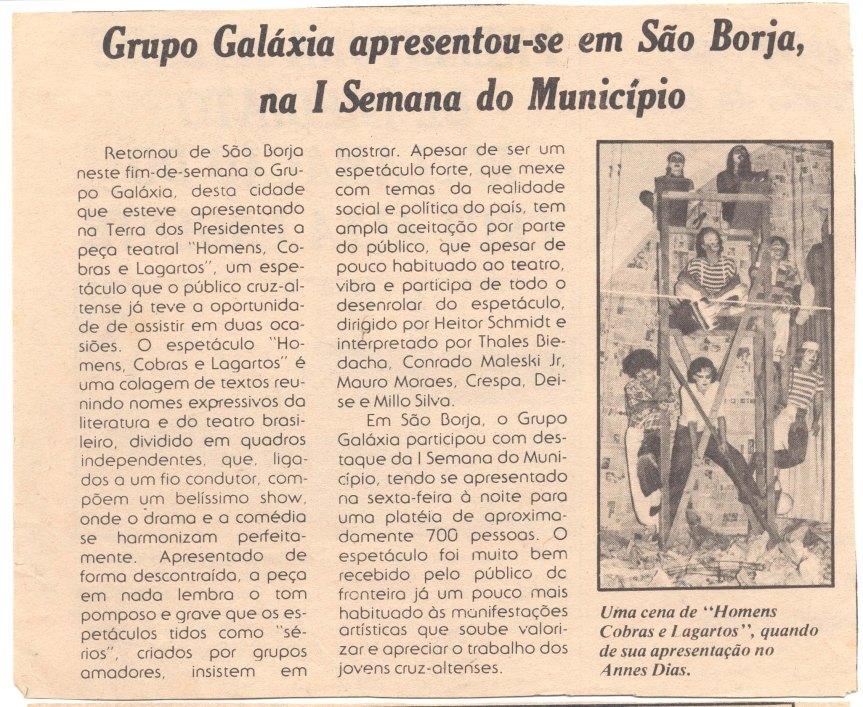 Jornal - CAlta Urgente - Galáxia em São  - Borja