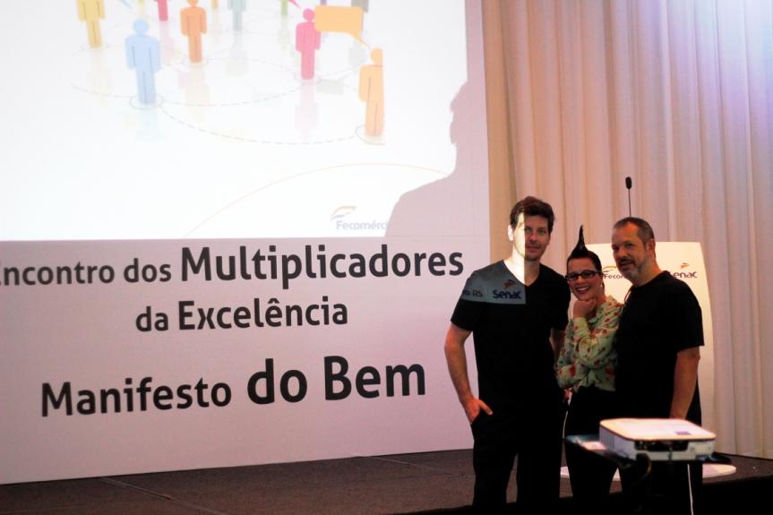 Rafael Franskowiak, Fernanda Petit e Heitor Schmidt (Foto: João Pedro Gäelzer da Silva)