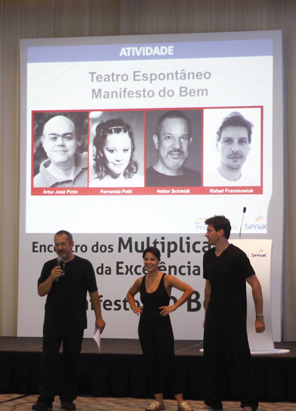 Heitor Schmidt, Fernanda Petit e Rafael Franskowiak (Foto: João Pedro Gäelzer da Silva)