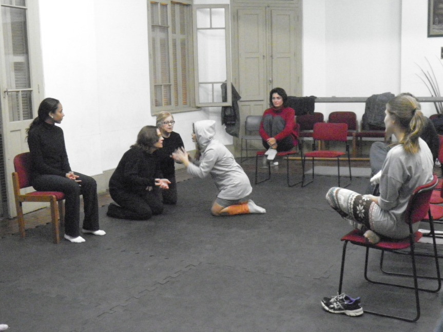 Ensaio de Teatro Espontâneo - CCMQ - Porto Alegre - RS