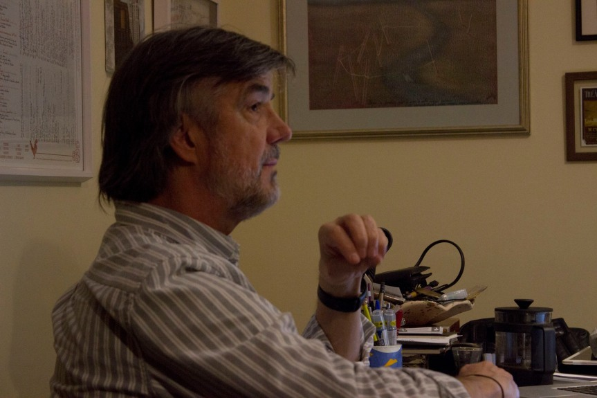 Julio Conte - Leitura do texto (Foto: Catharina Conte)